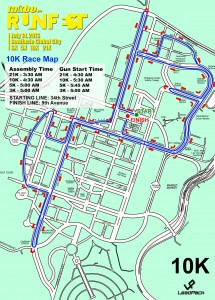 Runfest 10K Race Map