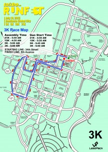 Runfest 3K Race Map