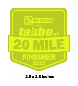 Updated Takbo.ph 20 Miler Medal Design