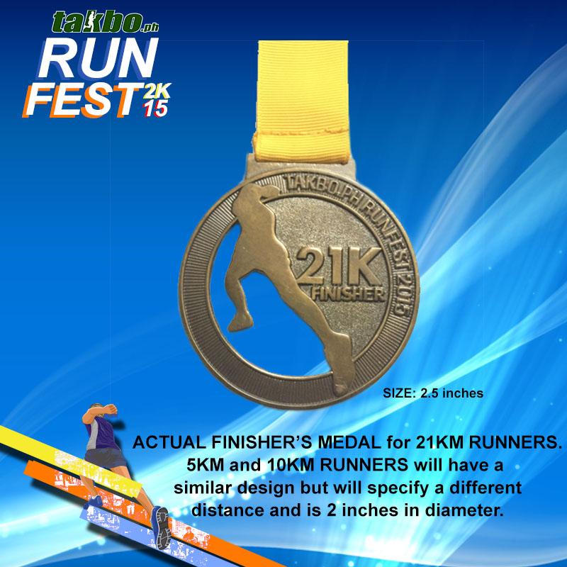 Runfest 2015 Finisher Medal