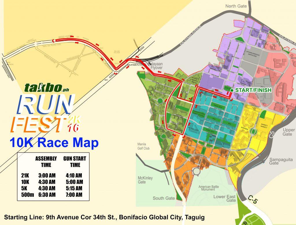 Runfest 2016 10K Route