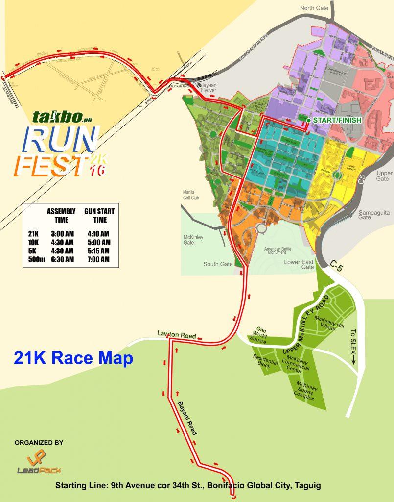 Runfest 2016 21K Route