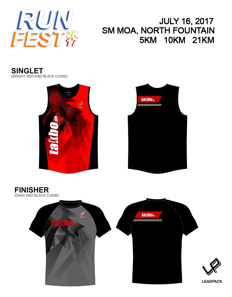Runfest2017 Singlet and Shirt