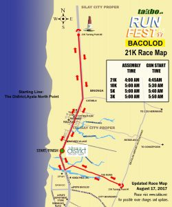 Runfest 2017 BCD - 21K Route R2