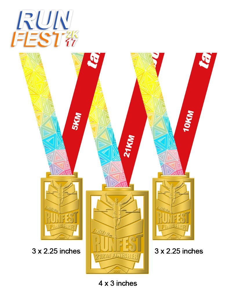 Runfest2017 BCD Medals