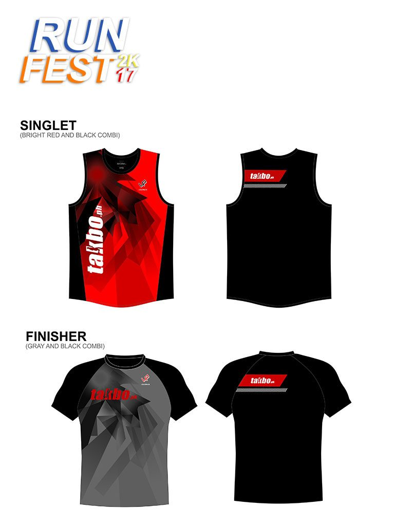 Runfest2017 BCD Singlet and Shirt