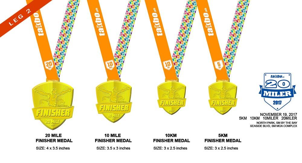 TPH 20Miler 2017 Medal