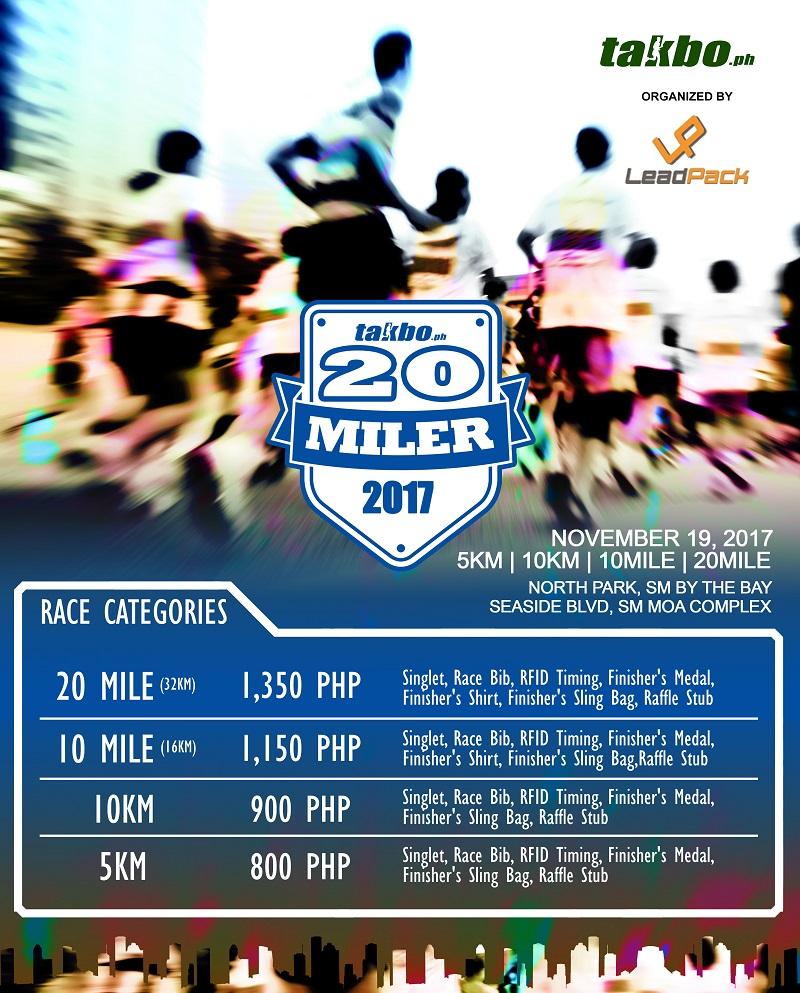 TPH 20Miler 2017 Poster