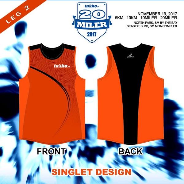 TPH 20Miler 2017 FB Singlet