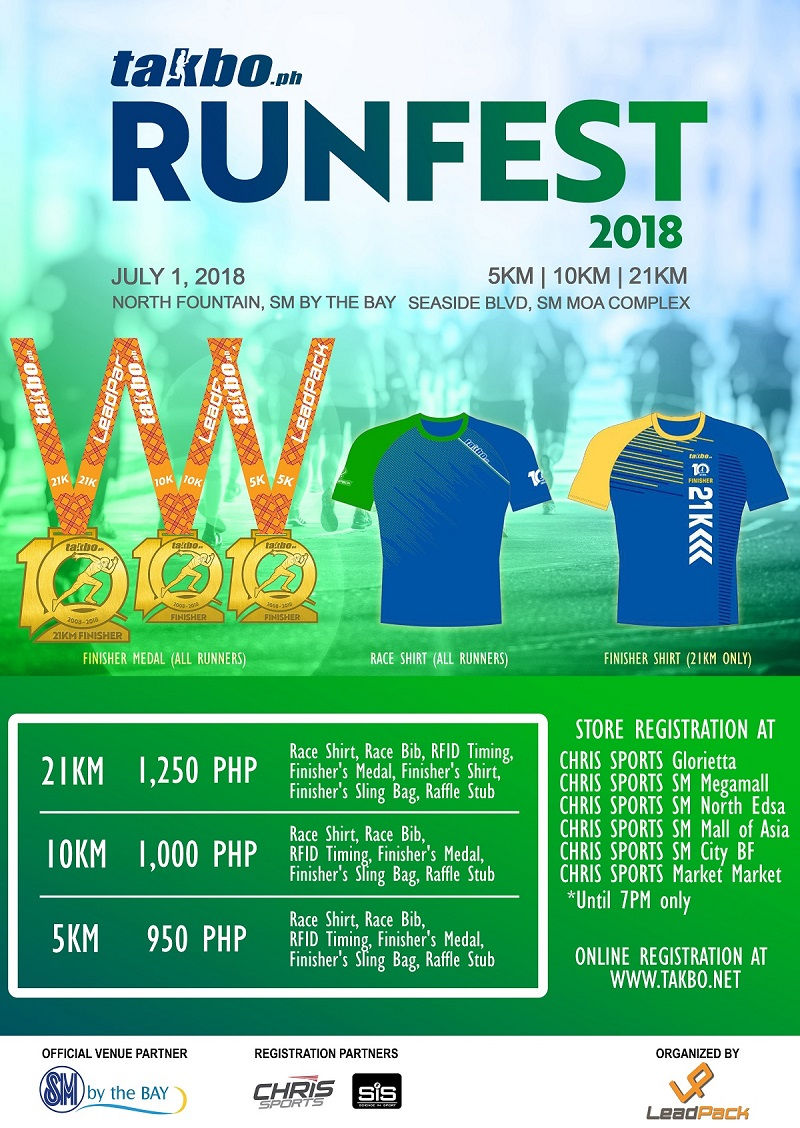 Runfest 2018 @ SM by the Bay – July 1 | Takbo ph Runfest